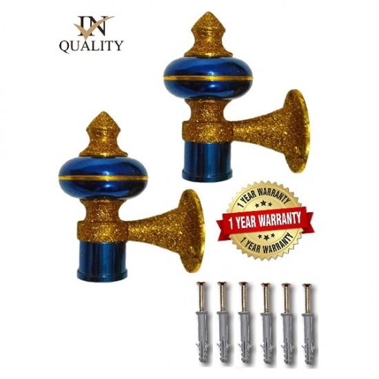 Blue Gold Zinc Curtain Brackets