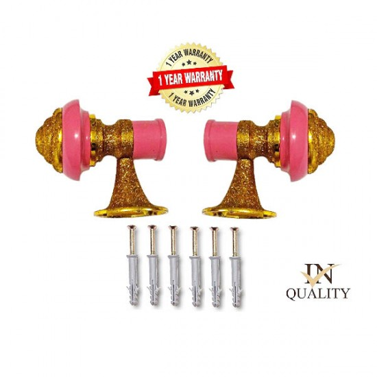 107 Pink Gold Zinc Curtain Brackets