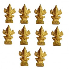 Ganesha Brass Small Statue For Your Pocket | Pack Of 10