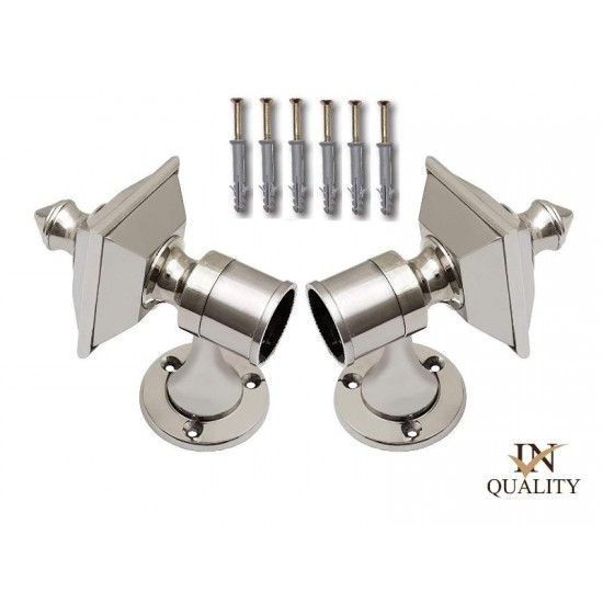 111 Silver Steel Zinc Curtain Brackets