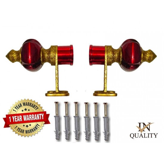 1004 Cherry Gold Zinc Curtain Brackets