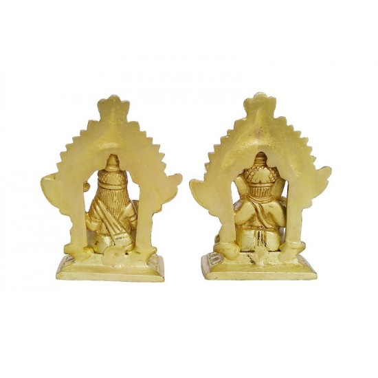 Laxmi Ganesh Brass Sculpture
