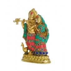Radha Krishna Standing With Stone Work