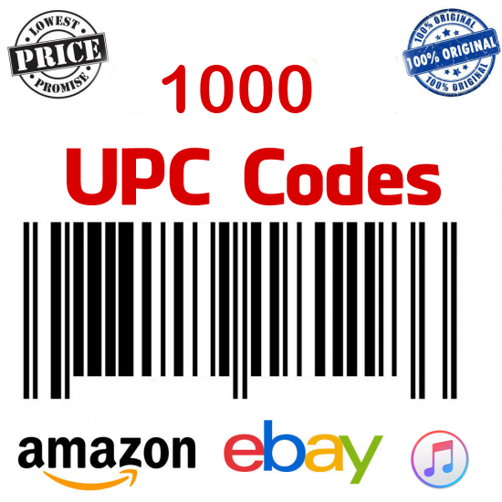 UPC GS1-Approved Bar-Code for Amazon India, Ebay, Flipkart, Amazon USA, 100% Genuine