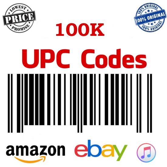 100K UPC/EAN  for Amazon India, Ebay, Flipkart, Amazon USA, 100% Genuine
