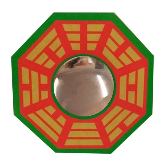 CONVEX VASTU BAGUA(PA KUA) MIRROR FOR POSITIVE(CHI) ENERGY | WALL/DOOR DECOR FOR PROTECTION