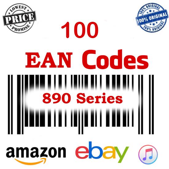 EAN Codes 890 Series ( 100 Codes )