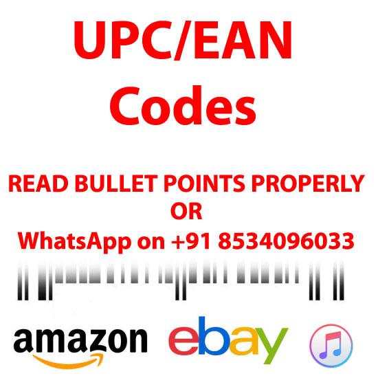 UPC GS1-Approved Bar-Code for Amazon India, Ebay, Flipkart, Amazon USA, 100% Genuine