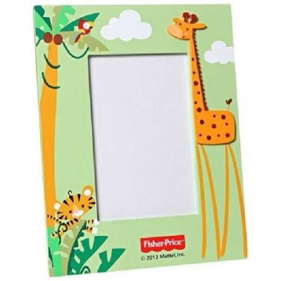 "FIsher Price Picture / Photo Frame Color Giraffe - Light Green, 4"" x 6"""