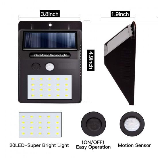 20 LED Solar Motion Sensor Light