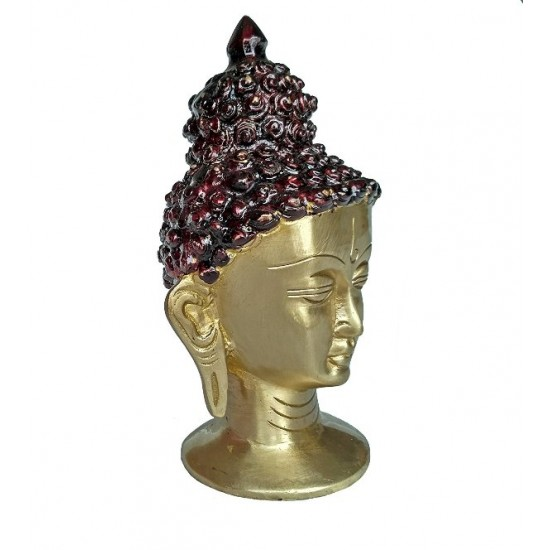 Brass Buddha Head Showpiece