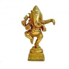 Dancing Ganesha Brass Idol Antique