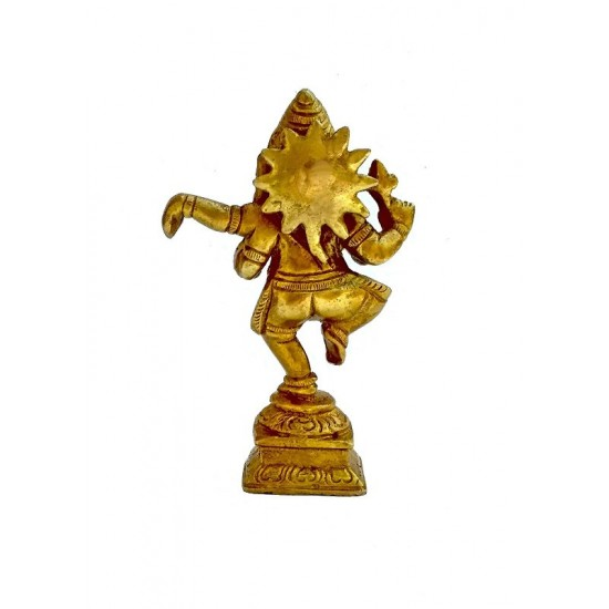Dancing Ganesha Brass Idol Antique