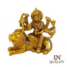 Maa Durga Brass Idol | Car Dashboard Gold