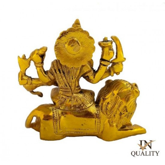 Maa Durga Brass Idol | Car Dashboard Gold